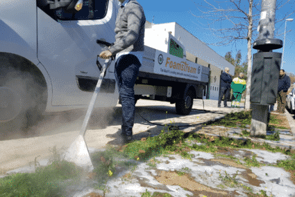 Foamstream Herbicide free weed control
